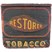 Antique Tobacco Wooden Country Store Advertising Box