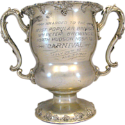 Antique Trophy Large Silver Plate Brewing Beer 1907
