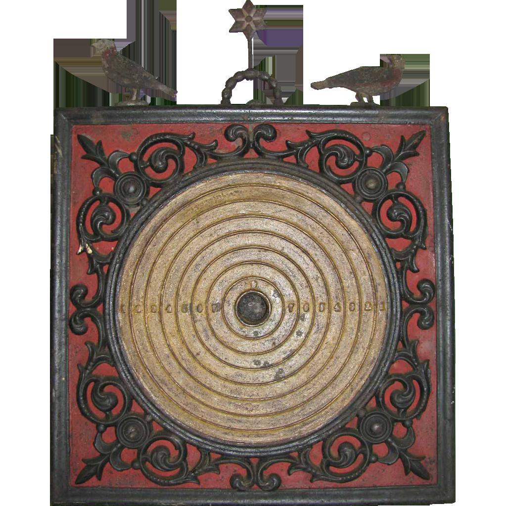 Antique Cast Iron Parlor Shooting Target Iron Victorian Era