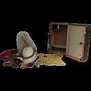 Antique Fraternal Uniform Suitcase Knights of Pythias Complete