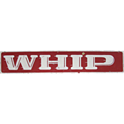 Vintage The Whip Amusement Park Ride Sign Asbury Park