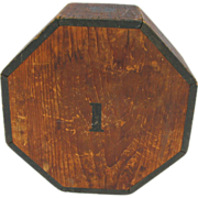 Antique Wooden Octagonal Carnival Game Rolling Dice