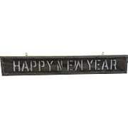 Vintage Lighted Happy New Year Sign