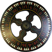 Vintage Carnival Game Wheel of Chance