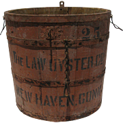 Vintage Wooden Oyster Bucket New Haven Connecticut