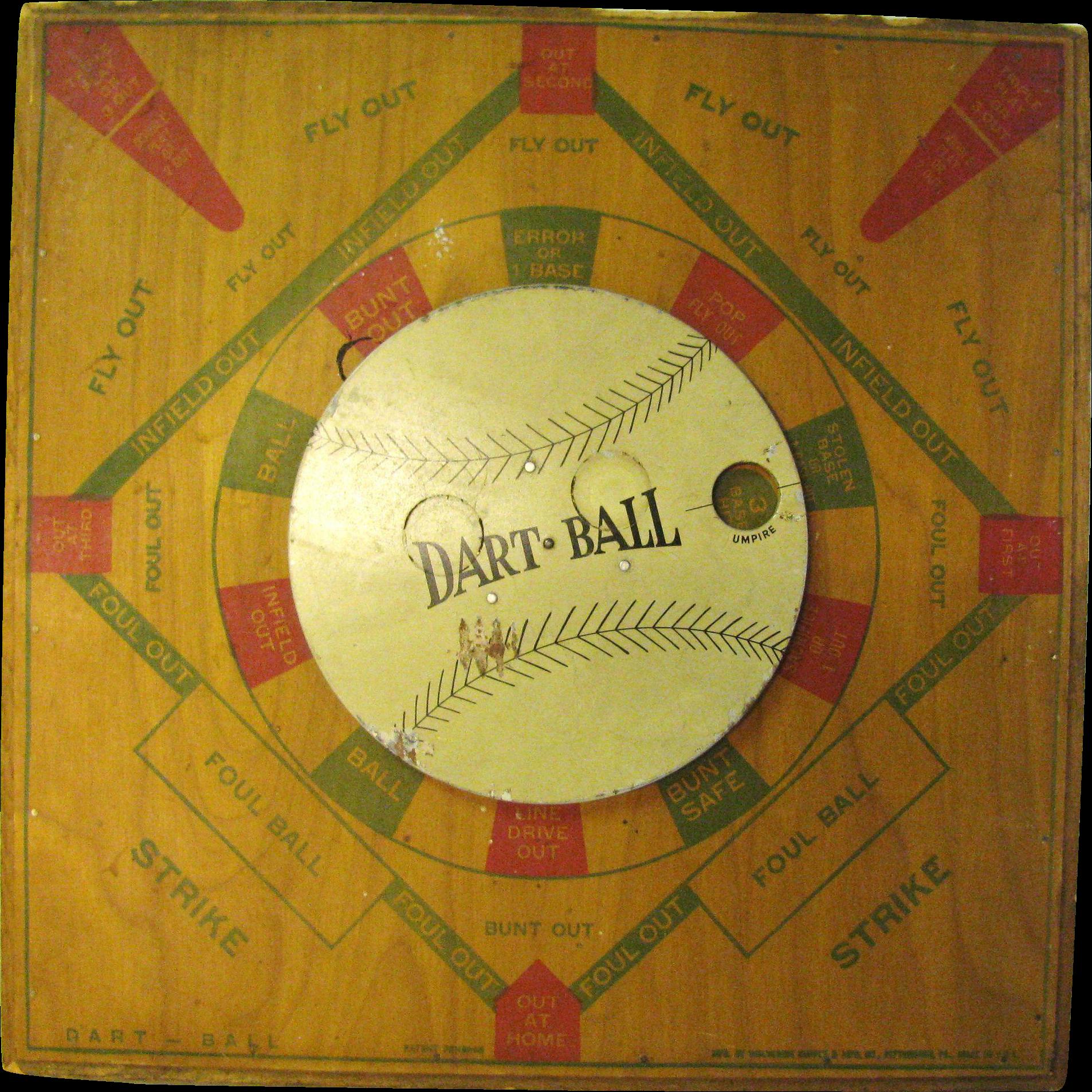 Vintage Baseball Dart Board Game SOLD