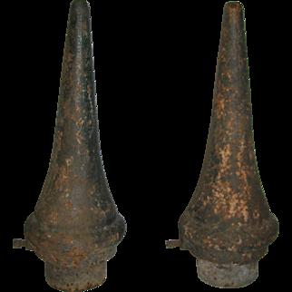 Antique Iron Finials