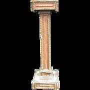 Antique Folk Art Notch Art Tramp Art Wooden Pedestal