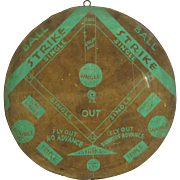 Vintage Rolled Paper Dart Board