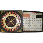 Antique Trade Stimulator Cigar Gambling Wheel of Chance Roulette