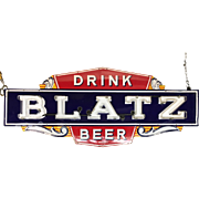 Vintage Blatz Beer Enameled Neon Advertising Sign