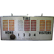 Vintage Basketball Score Board