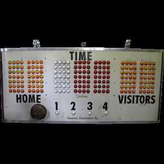 Vintage Basketball Score Board