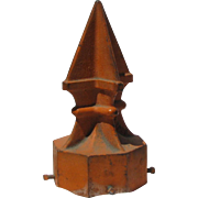 Vintage Cast Iron Painted Post Top Finial