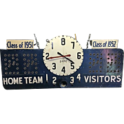 Vintage Basketball Scoreboard Working Condition
