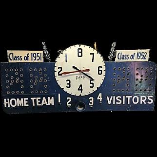Vintage Basketball Scoreboard Working Condition