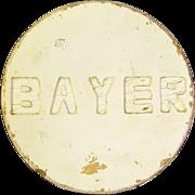 Vintage Wooden Painted Bayer Aspirin Trade Sign