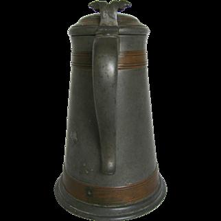 Antique Pewter Merion Cricket Club Trophy Stein 1906