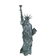 Vintage Statue of Liberty Zinc Lighted