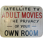 Vintage Wooden Hotel Sign For Satellite TV and Movies
