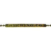 Antique Brewing Co. Gold Gild Wooden Sign