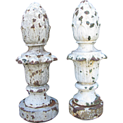 Antique Cast Iron Lamp Post Finials