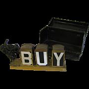 Vintage Salesman Sample Advertising Lighted Sign