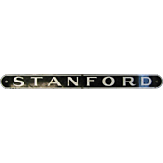 Vintage Porcelain Town Sign Stanford Railroad