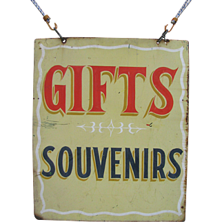 Vintage Gifts Souvenirs Painted Sheet Metal Sign