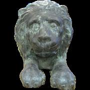 Antique Bronze Reposed Lion