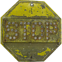 Vintage Jeweled Reflector Stop Sign
