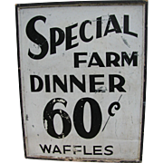 Vintage Farm Dinner Tin Sign