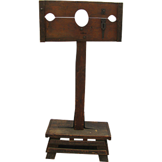 Antique Wooden Pillory