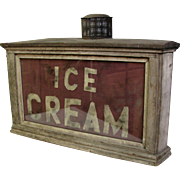 Antique Oil Lamp Ice Cream Sign