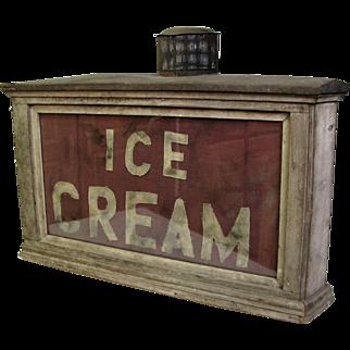 Antique Oil Lamp Ice Cream Sign