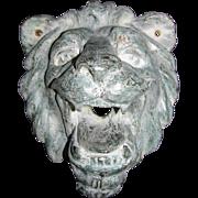 Vintage Brass Lion Head
