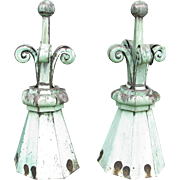 Antique Copper Florets Finials Toppers