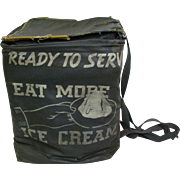 Vintage Ice Cream Canvas Delivery Bag