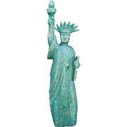Vintage Wooden Carved Folk Art Statue of Liberty