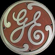 Vintage Cast Aluminum General Electric Locomotive Badge 143508-F