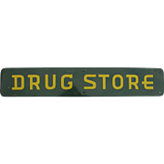 Vintage Enameled Drug Store Sign