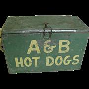 Vintage Sports Stadium Hot Dog Vendors Carrier