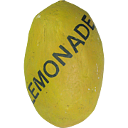 Vintage Paper Mache Large Lemon Lemonade Folk Art Trade Sign