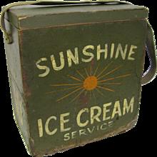 Vintage Ice Cream Stadium Vendors Box