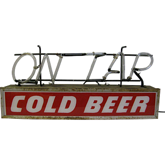 Vintage Working Neon Beer Sign