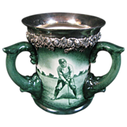 Rare Lenox Golf Triple Handled Sterling Silver Stein C1880