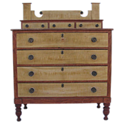 Fabulous Antique New England Painted Chest of Drawers Ca. 1830