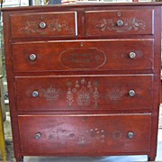 Fabulous Jacob Knagy Antique Chest of Drawers 1863