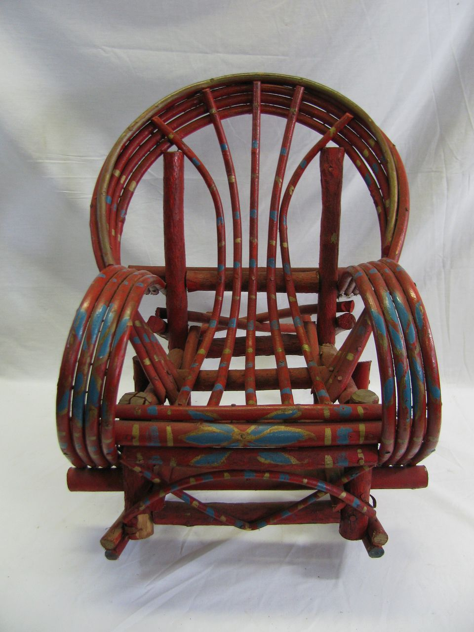 Outstanding Painted Child S Adirondack Willow Rocking