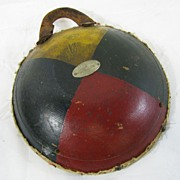 Vintage Americana Painted Fraternal Ceremonial Drum